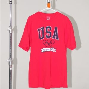 Men's USA Olympics Vintage Team Apparel Shirt Red